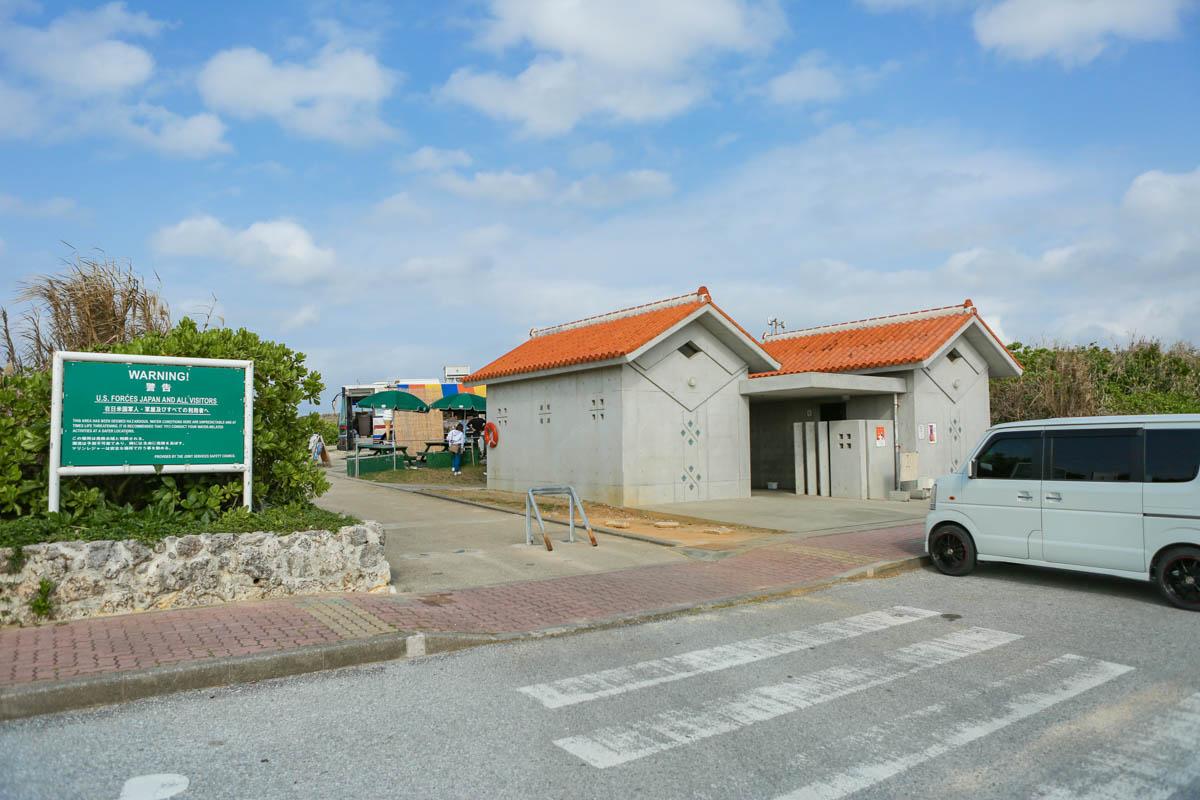 残波岬の駐車場