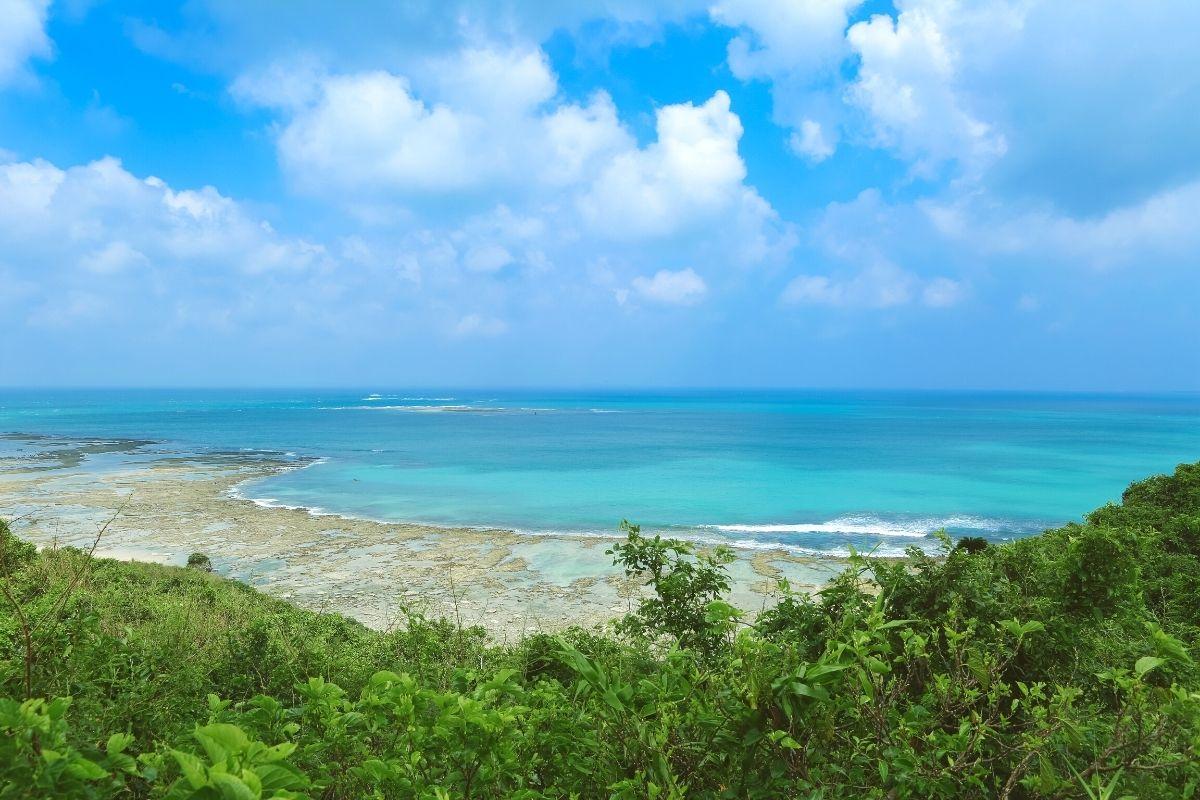 知念岬公園から見える太平洋