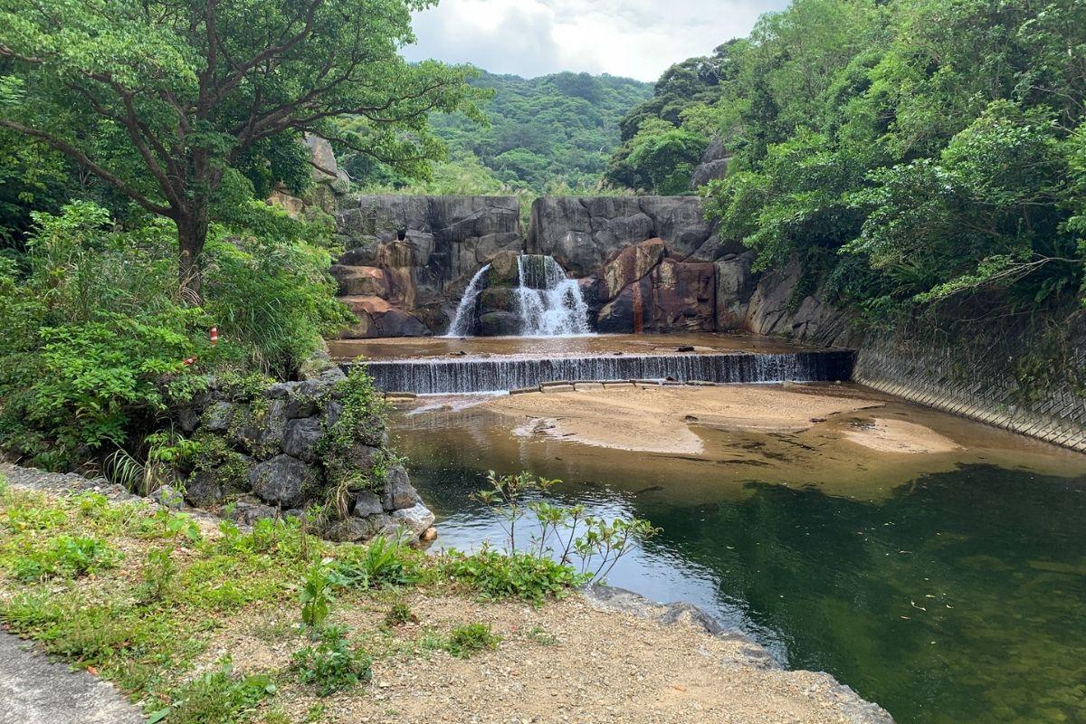 比地大滝のダム
