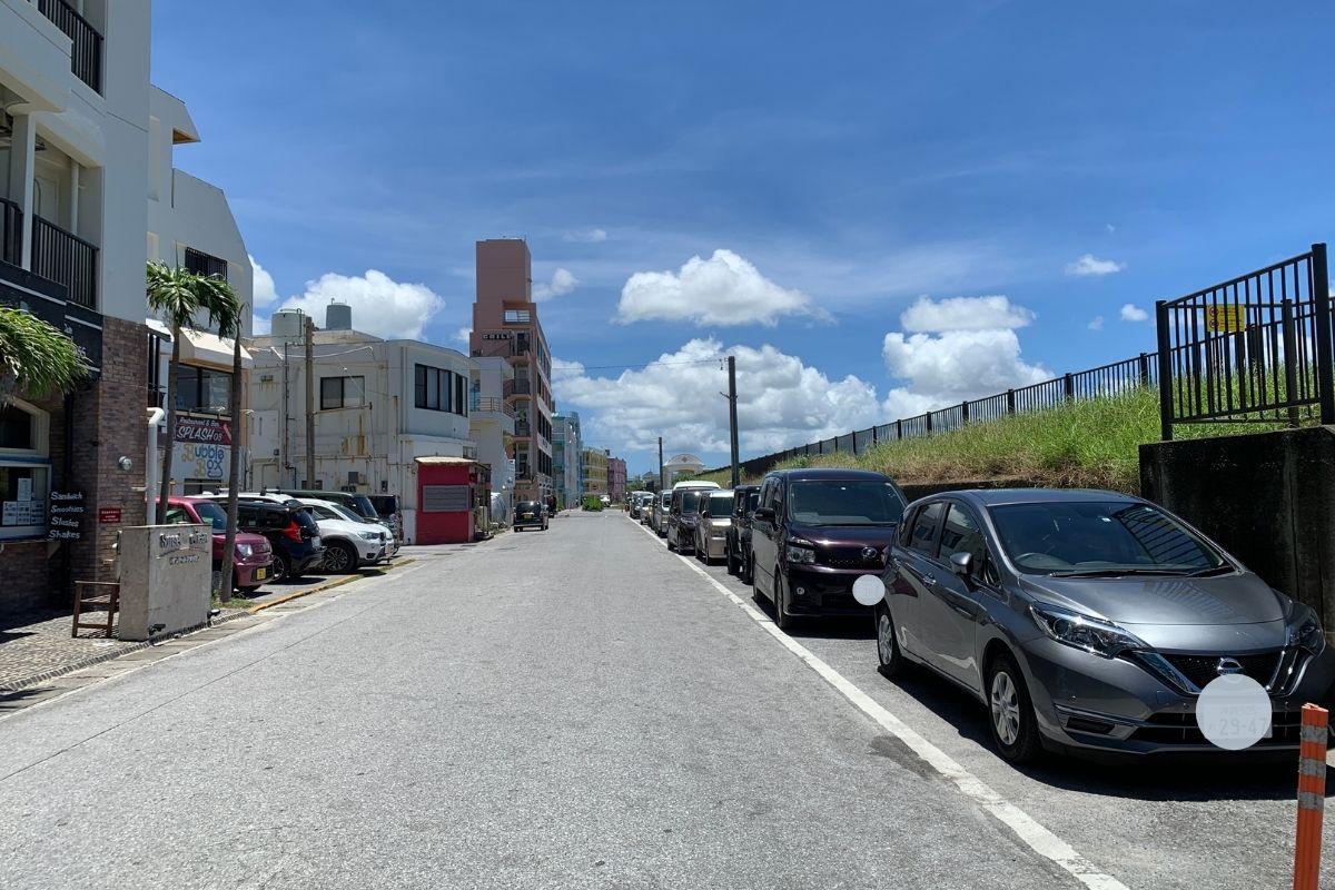 宮城海岸の駐車スペース